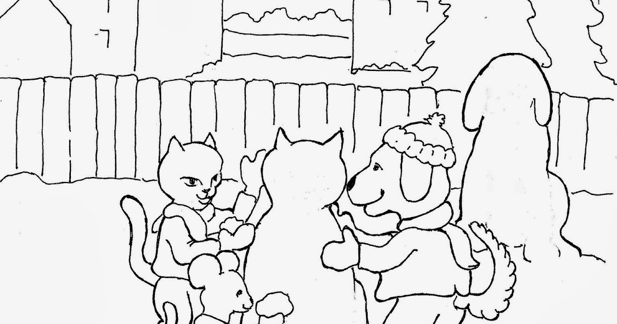 Coloring Pages for Kids by Mr. Adron: Winter Coloring Page