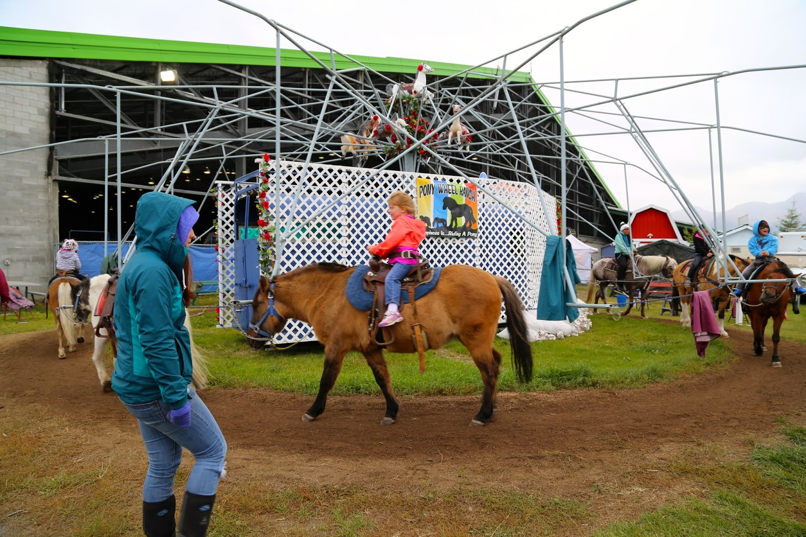 Horse drawn carousel, Alaska State Fair