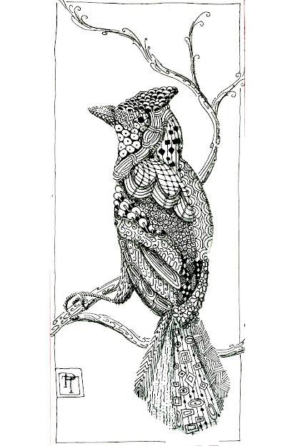 Coloring Page Coloringadultbirdpatterns Not Just Bird