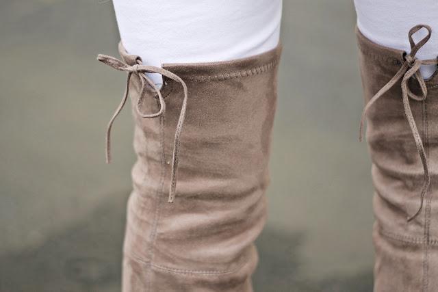 cute overknee boots details