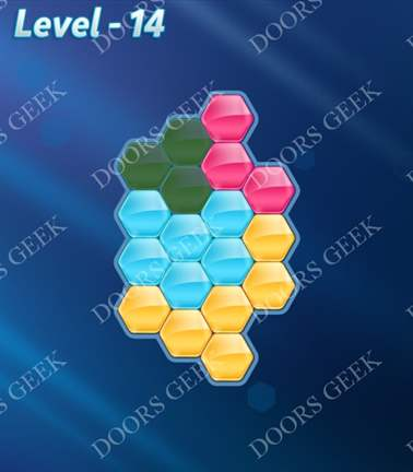 Block! Hexa Puzzle [Rainbow A] Level 14 Solution, Cheats, Walkthrough for android, iphone, ipad, ipod