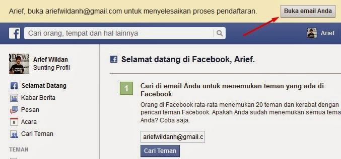 langkah keenam cara membuat facebook