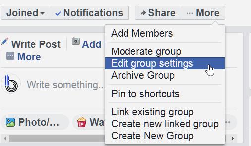fb edit group setting