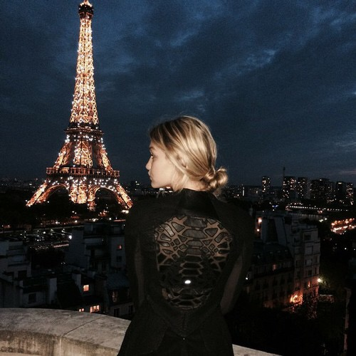 Eiffel Tower Paris Gigi Hadid