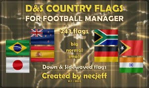 Football Manager National Flag pack by NecJeff of DF11 Facepacks