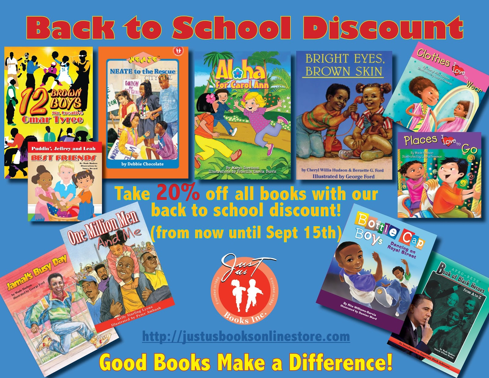 We're Offering A Back To School Discount At Just Us Books!