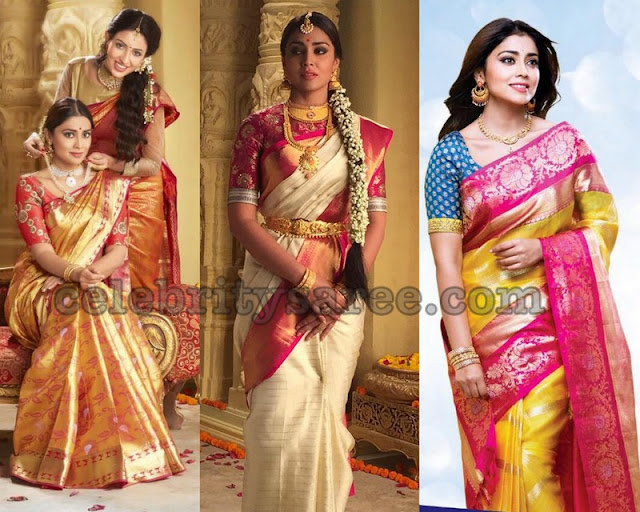 Shriya Saran Latest Silk Sarees