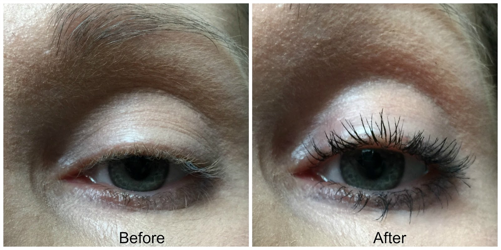maybelline colossal big shot mascara before and after