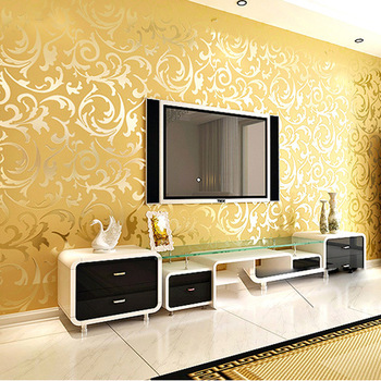 simple pour the wall into the royal touch of golden texture with classy designs to it - Bedroom Wall Textures
