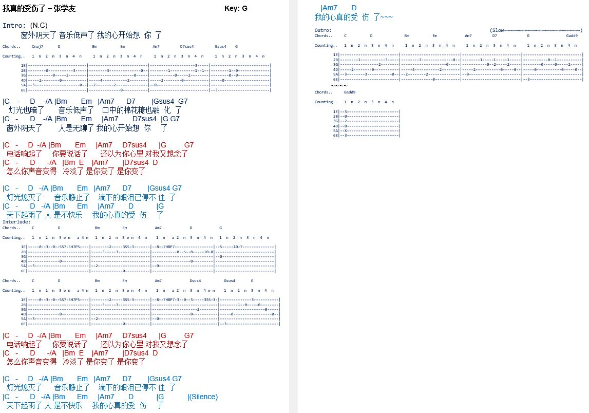 Latest Guitar Chord Jacky Cheung
