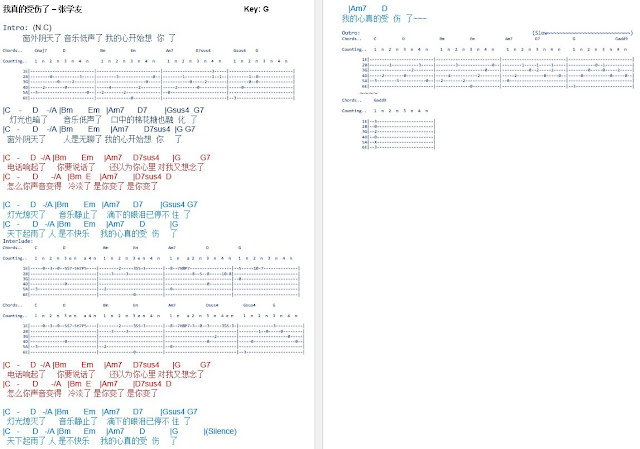 Latest Guitar Chord: Jacky Cheung
