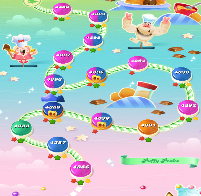 Candy Crush Saga level 4386-4400