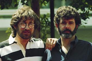 George Lucas junto a Steven Spielberg en 1977