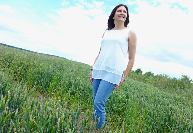 The M&S white top and denim challenge