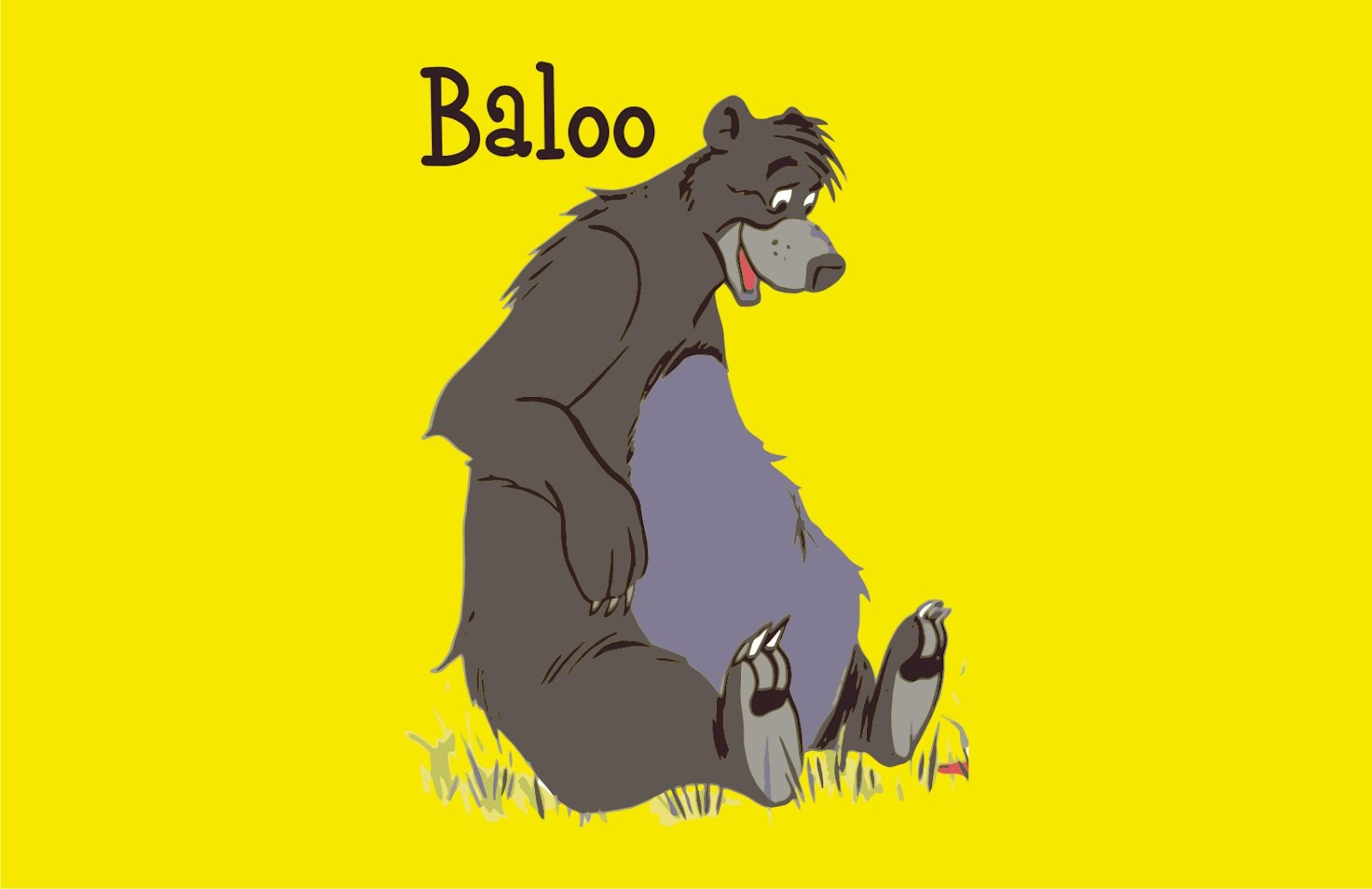 The Jungle Book Baloo Vector Game