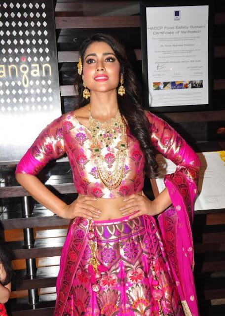 shriya saran photos at the wedding vow fashion show 1 - Shriya Saran in Pithani Silk Lehenga. wedding wows fashion show