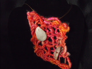Wired yarn jewelry awesomeness from Pam Blasko