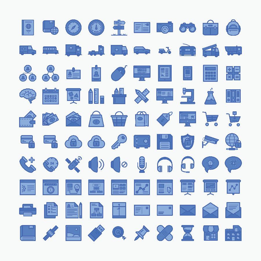 100 Free Line Icons
