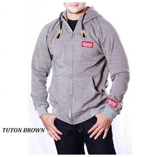JAKET FLEECE PRIA ZURREL TUTUN BROWN