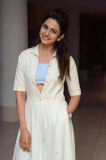 Rakul Preet Hot Pics In White Dress