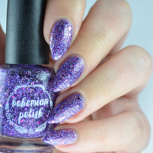purple glitter nail polish