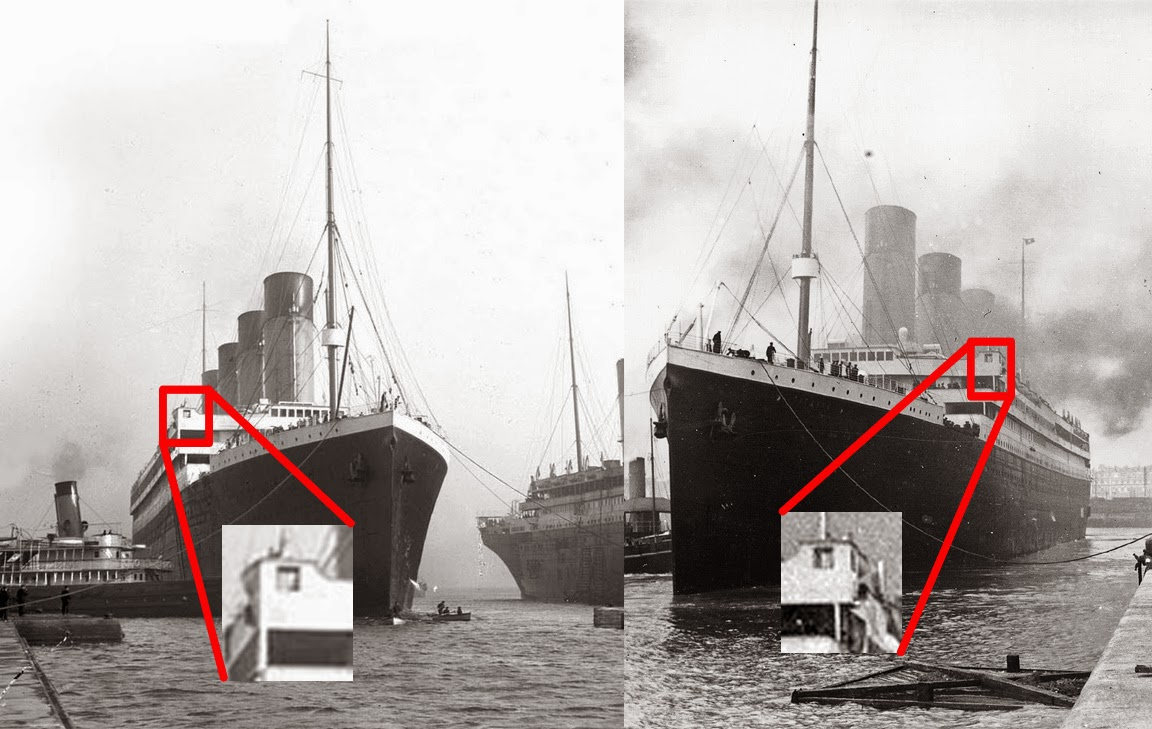 TITANIC  History s Most Famous Ship  Differences Between Olympic and     Olympic at left  and Titanic at right