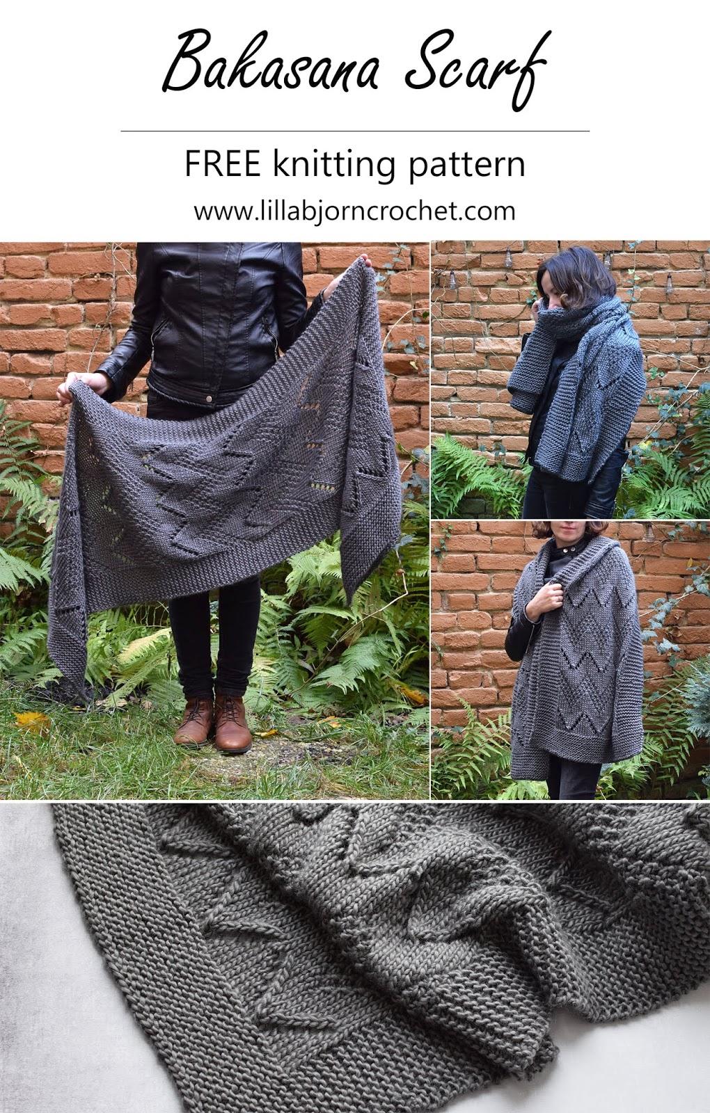 Bakasana Scarf Free Knitting Pattern Lillabjorn S Crochet World