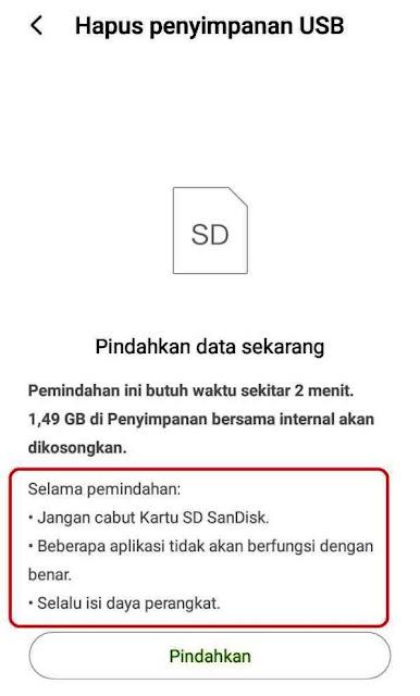 Mengubah Penyimpanan  ke SD Card Xiaomi Redmi 5a