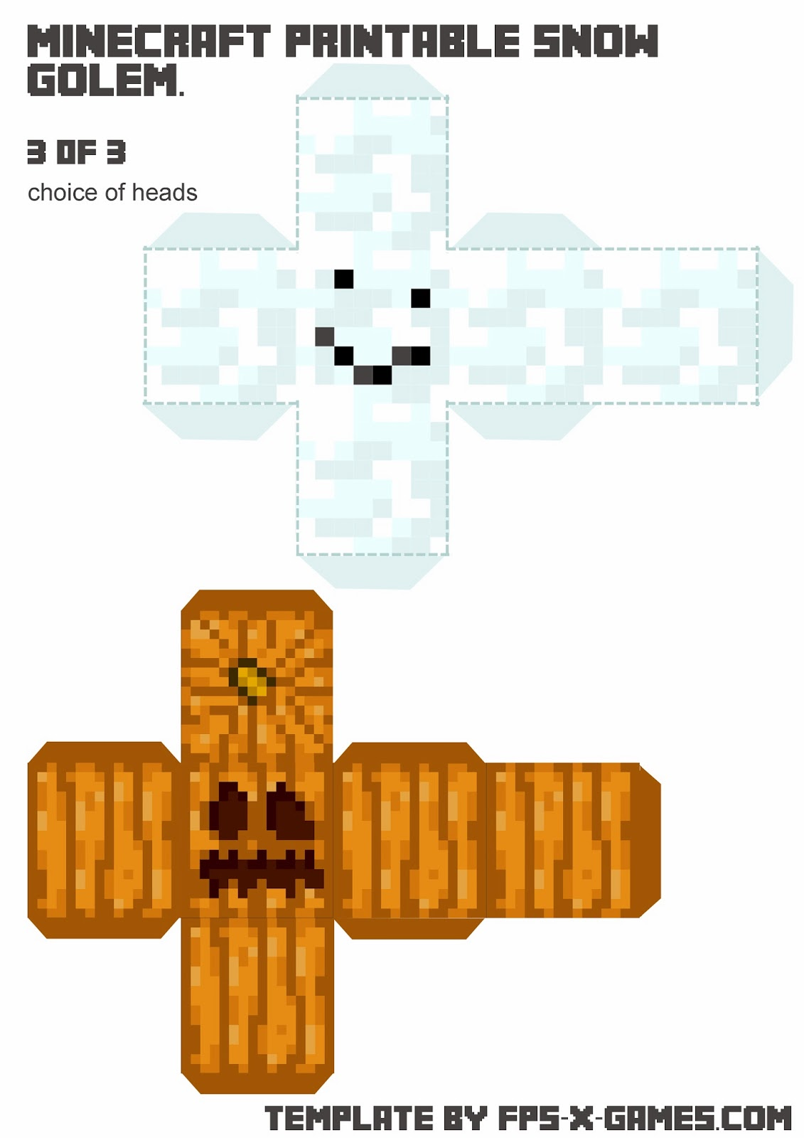 Minecraft Irongolem Free Coloring Pages