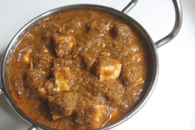 Herb Paneer Gravy Recipe - Quick Paneer Curry Recipe