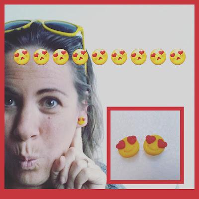 emoji emoticon fimo orecchini