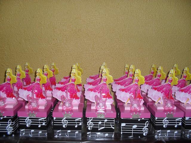 Centro de Mesa Barbie Pop Stars MDF
