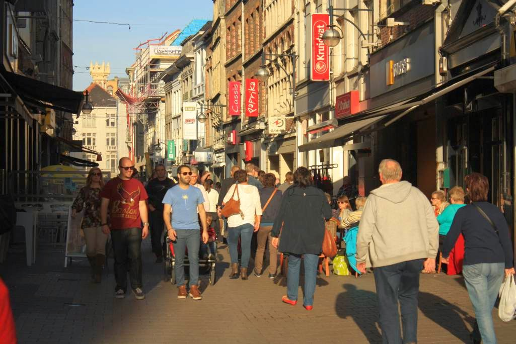 Shopping Street in Ghent