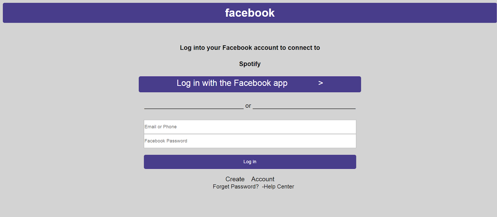 facebook login page code in html and css