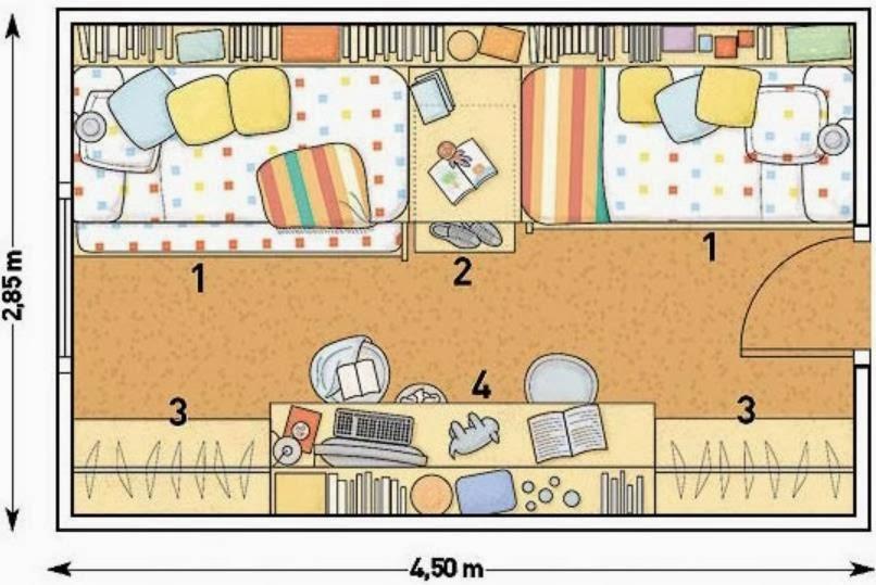 Maestra de Primaria: Planos de viviendas. Dependencias de la casa.