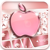 Rose Gold Keyboard for Phone8 Apk for Android