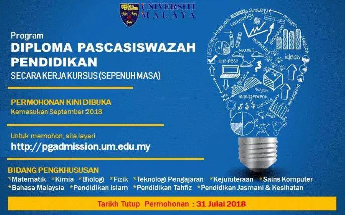 Permohonan Online Bagi Program Dpli 2018 Universiti Malaya Um Sesi Ambilan September 2018 Mypendidikanmalaysia Com