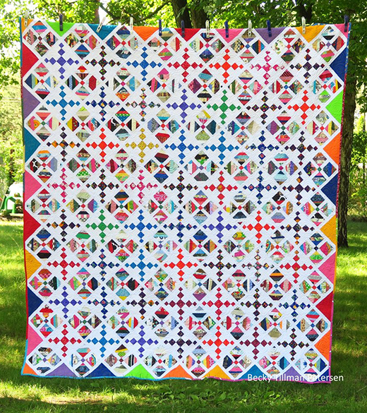 Stringalicious Quilt Free Pattern Designed by Becky Tillman of Quilted Twins