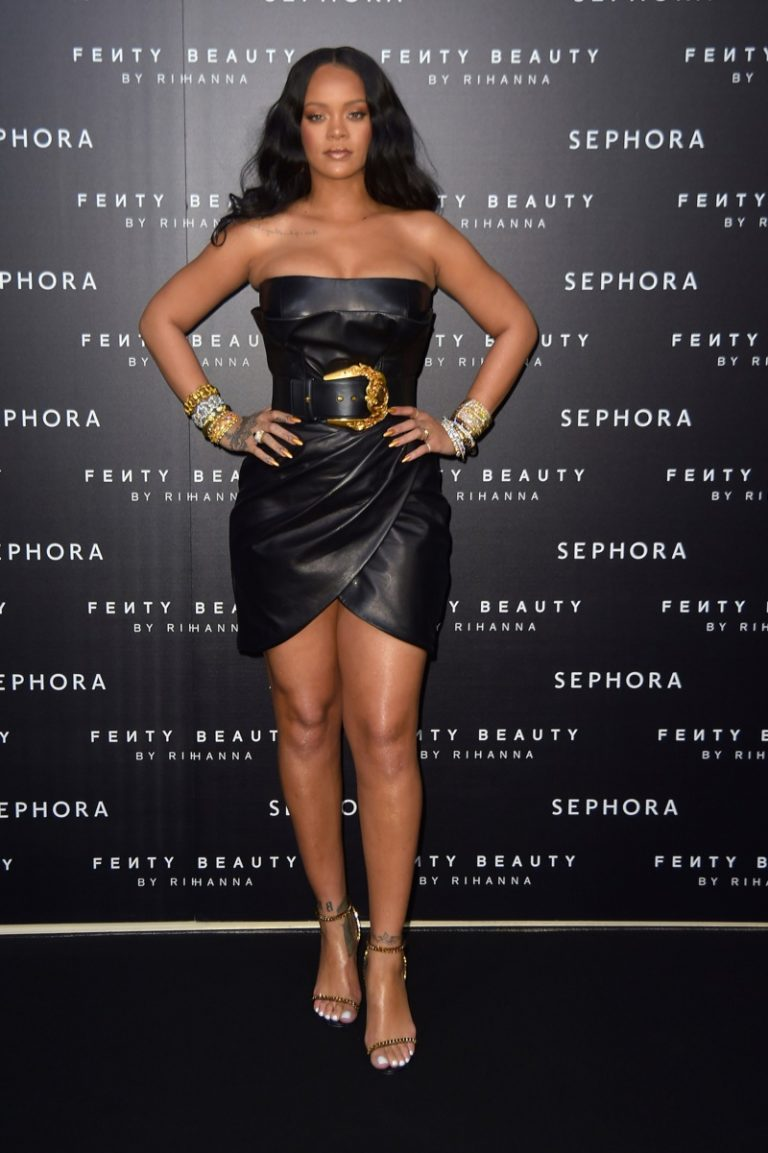 Rihanna Stuns in Versace at Fenty Beauty Event