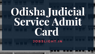 Odisha Judicial Service Admit Card