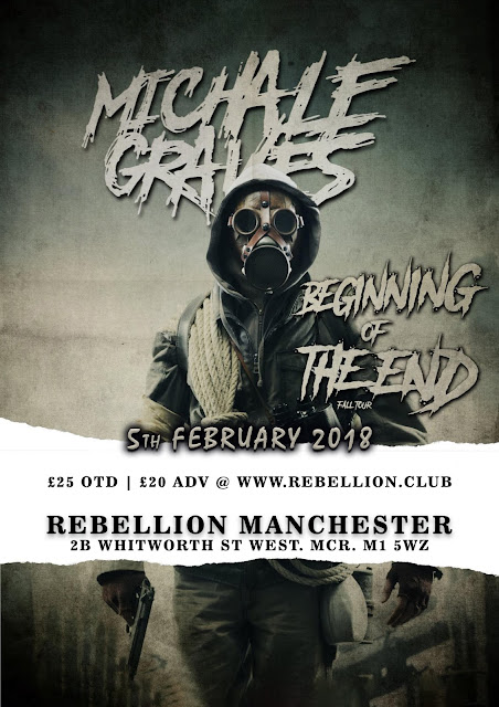 Michale Graves 2018 Poster Rebellion Manchester