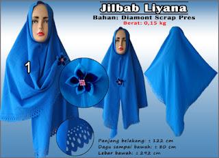 Jilbab liyana cantik bahan diamond