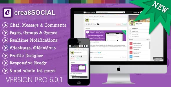 crea8social PRO v6.0.1 – Leading Social Networking Platform