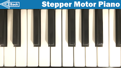 Stepper Motor Piano Background Image for Interface 2 (arduinobasics.blogspot.com)