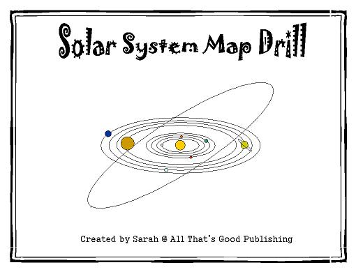 Solar System Map Blank - Pics about space