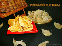 images for Potato Vathal / Urulaikizhangu Vathal / Potato Vadam / Potato Chips
