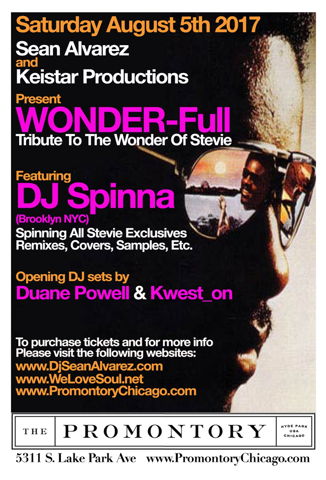 Saturday August 5th: WONDER-Full Tribute To The Wonder of Stevie