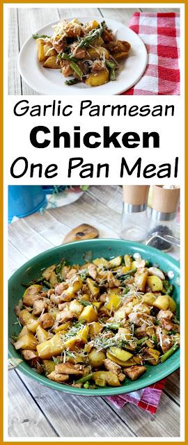 Garlic Parmesan Chicken One Pan Meal