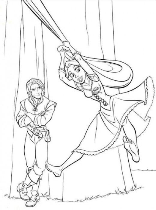 free printout coloring pages | Fun Coloring Pages: Tangled Rapunzel Coloring Pages