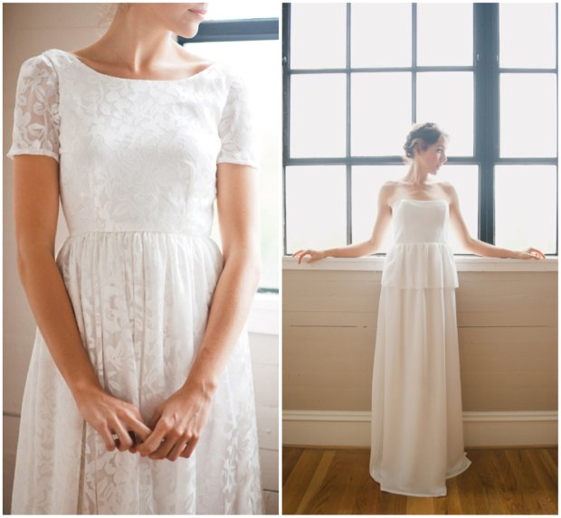 Simple Understated Wedding Gowns